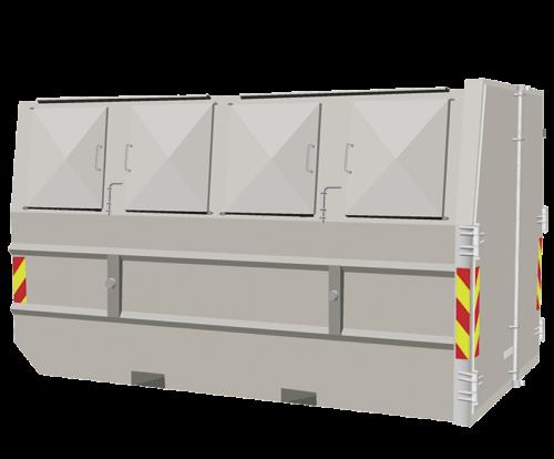 Bestill 10m3 Lukket Container Privat Brenden Amp Co